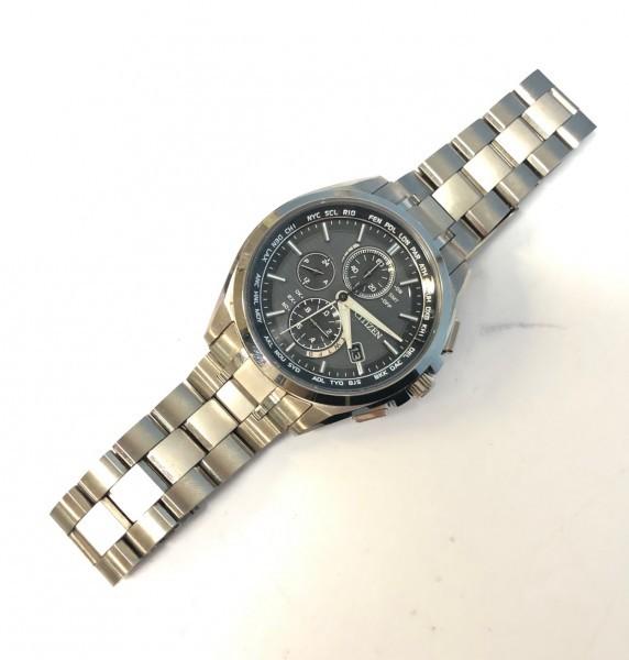 34271 CITIZEN ATTESA ECO-DRIVE シチズン アテッサ エコドライブ 腕時計 黒 ソーラー 電波 H804-T018696 稼働中_画像3