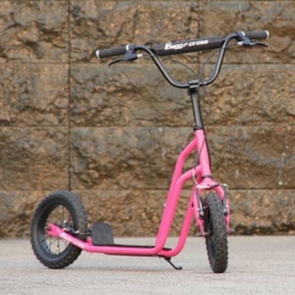 【新品1円~】Buggycross バギークロス アルメリアピンク 12inch新感覚キックスクーター キックボード レジャー アウトドア No.2_画像2