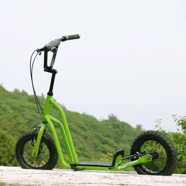 【新品1円~】Buggycross バギークロス ライムグリーン 12inch新感覚キックスクーター キックボード レジャー アウトドア No.2_画像2