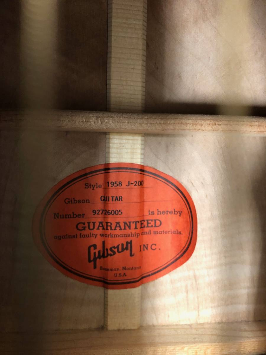 【8036】Gibson/ギブソン クラッシックギター 1996年製 LTD58-J-200VS 中古品 写真要確認 送料別途記載 180サイズ 簡易包装発送_画像3