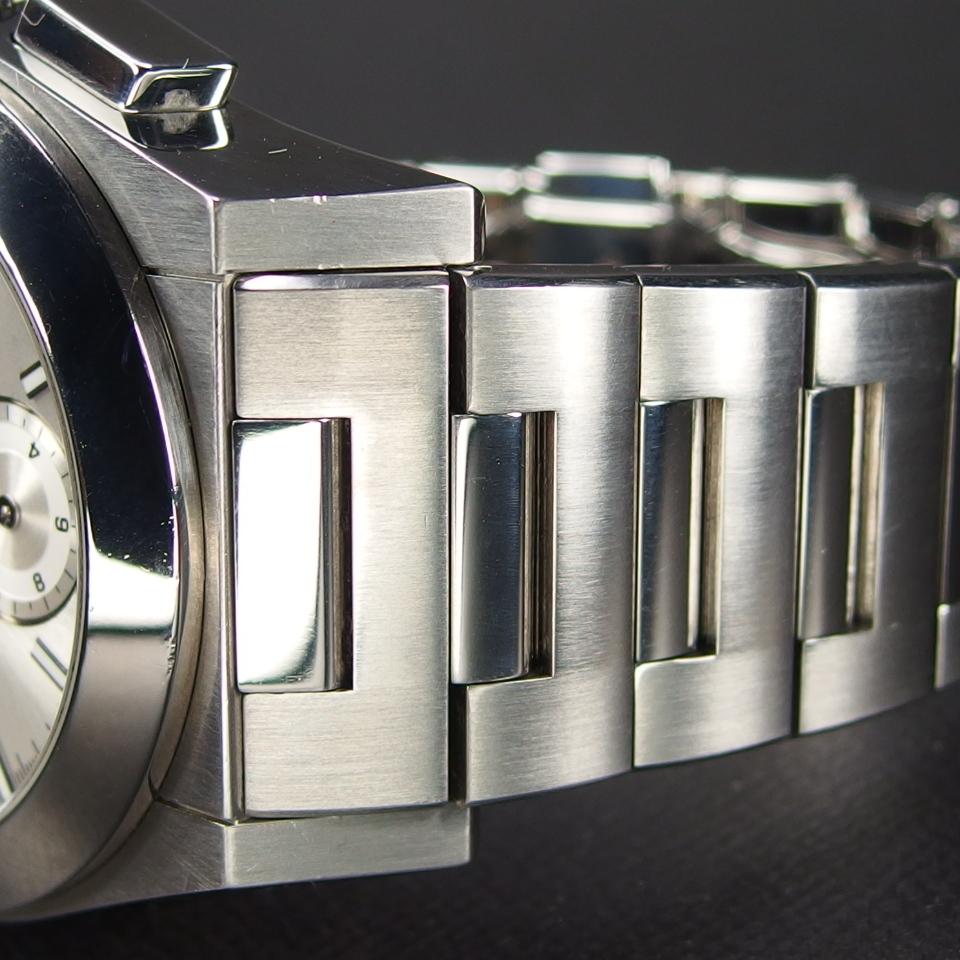 【レアモデル バックスケルトン クロノグラフ】 GUCCI グッチ PANTHEON パンテオン 115.2 自動巻き SS メンズ 腕時計 純正BOX付き_画像6