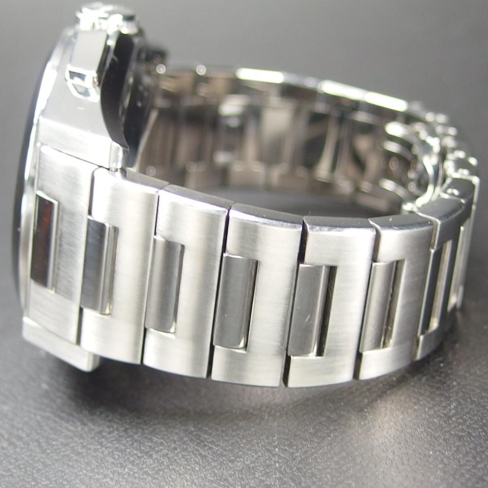 【レアモデル バックスケルトン クロノグラフ】 GUCCI グッチ PANTHEON パンテオン 115.2 自動巻き SS メンズ 腕時計 純正BOX付き_画像7