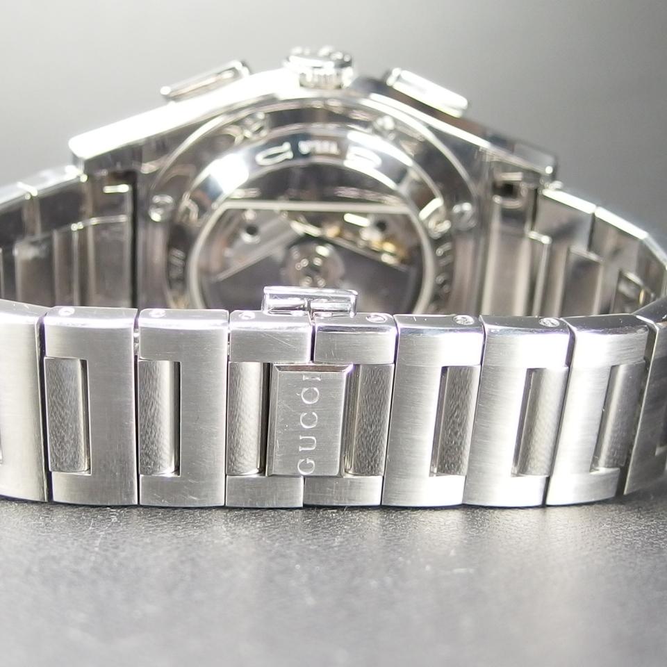 【レアモデル バックスケルトン クロノグラフ】 GUCCI グッチ PANTHEON パンテオン 115.2 自動巻き SS メンズ 腕時計 純正BOX付き_画像8