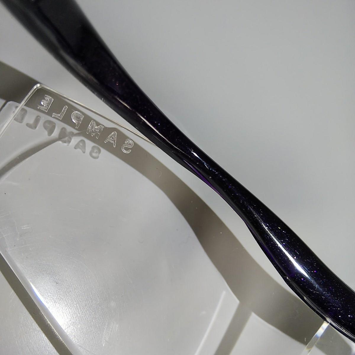 在庫あと2本 小さなサンプル印タイプ ハズキルーペラージ1.6倍紫ラメクリアレンズ新品サンプル本体のみカタログつきません。_画像5