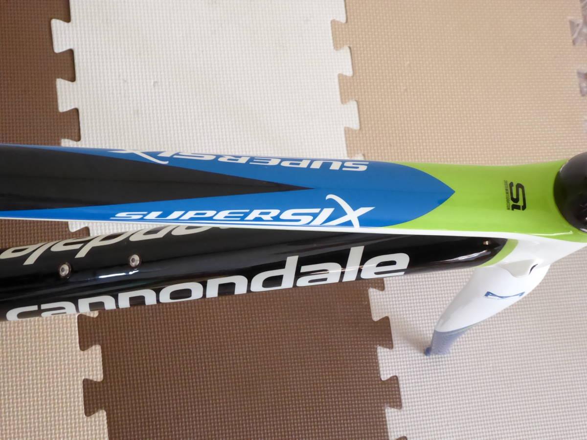 cannondale SUPERSIX Hi-MOD フレームセット (50) キャノンデール スーパーシックス フルカーボン グリーン チームリクイガスREP_画像4