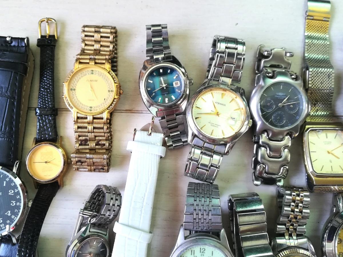 40本 大量 腕時計 セット まとめて SEIKO CITIZEN CASIO GUCCI YSL TECHNOS 等 ヴィンテージ ジャンク_画像6