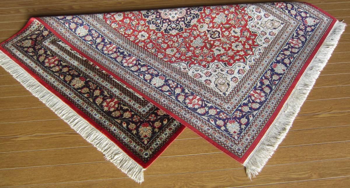 【116×80】シルク100%◆クム産ペルシャ絨毯■1280-300_画像9