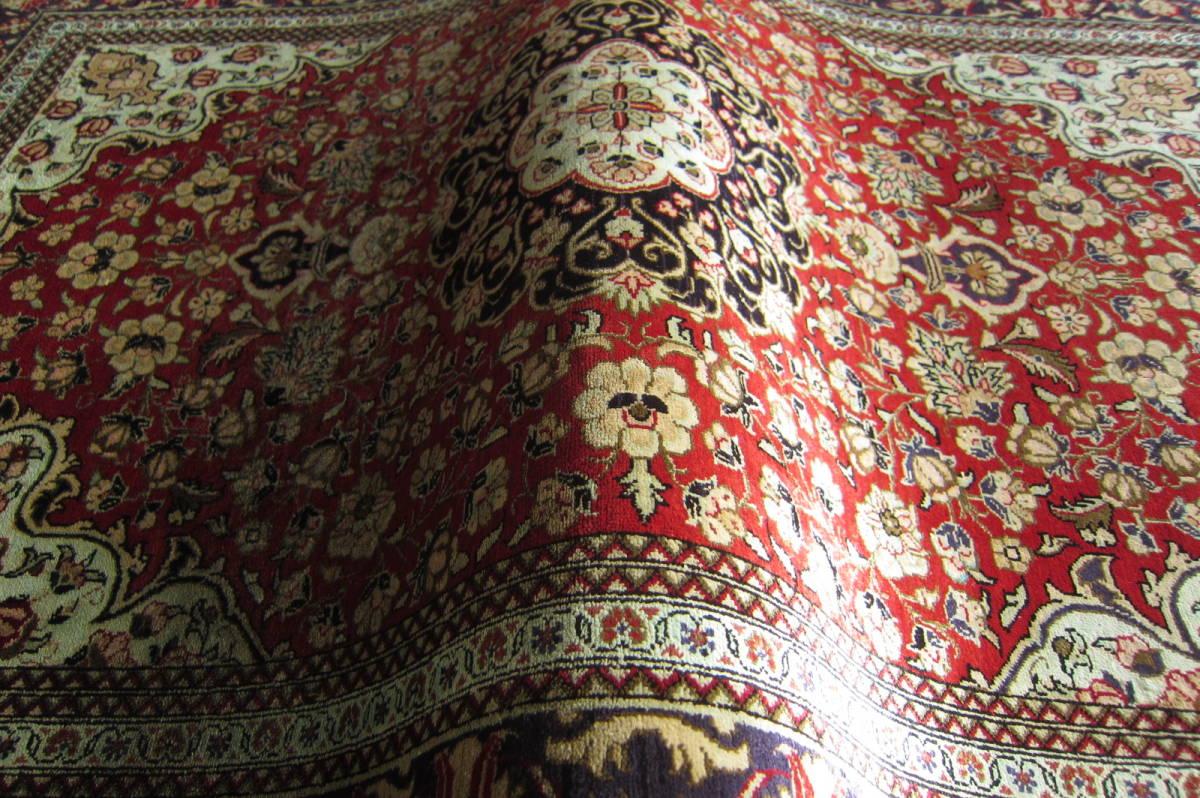 【116×80】シルク100%◆クム産ペルシャ絨毯■1280-300_画像8