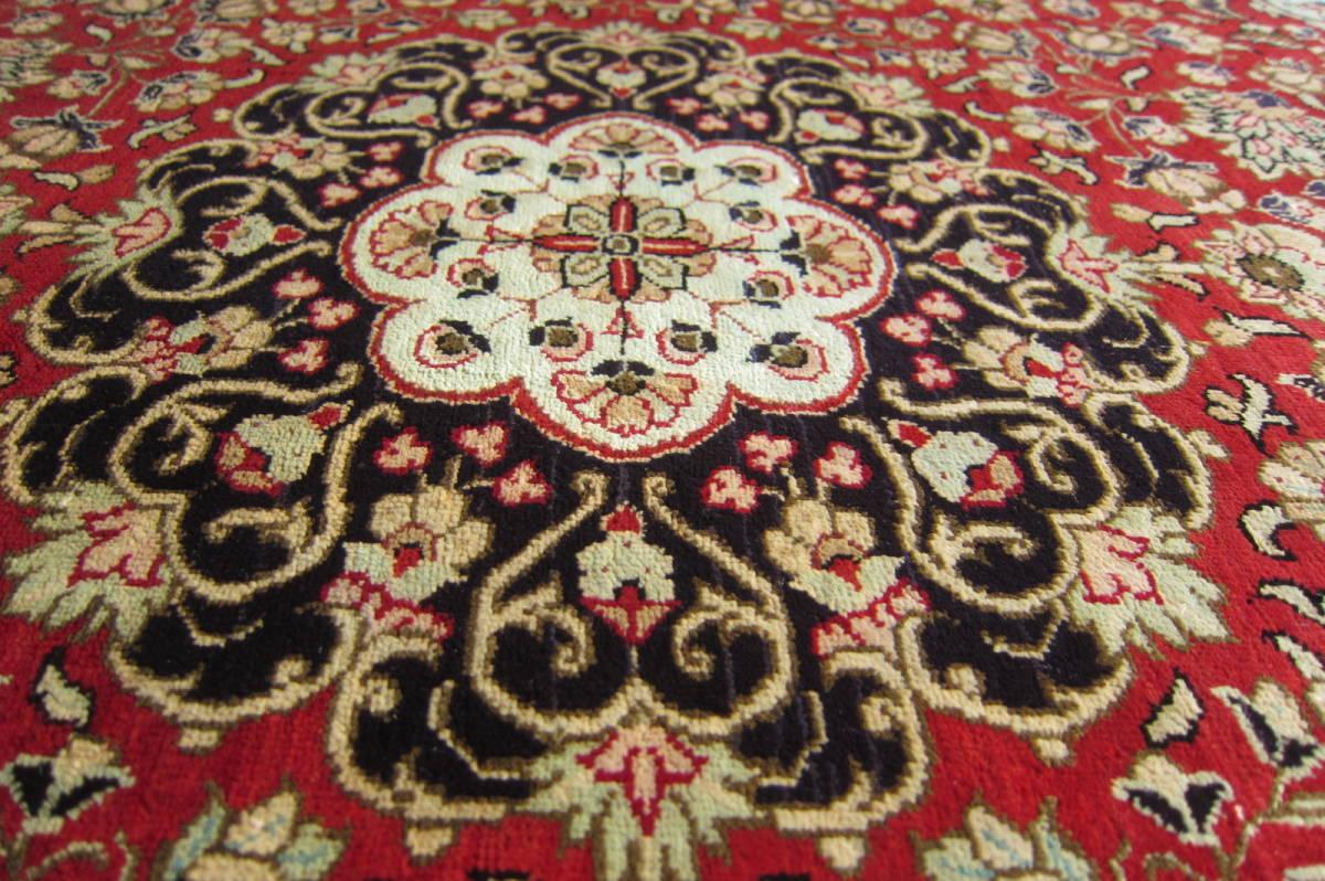 【116×80】シルク100%◆クム産ペルシャ絨毯■1280-300_画像7
