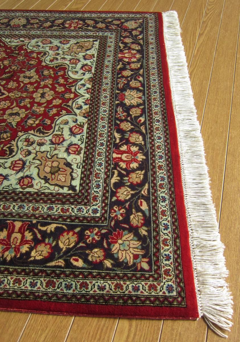 【116×80】シルク100%◆クム産ペルシャ絨毯■1280-300_画像5