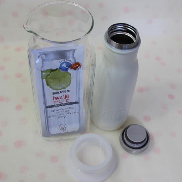 未使用★iwakiイワキ角形サーバー1L耐熱ガラス/milマグボトル480mlステンレス製/toneボトルカバー500mlペットボトル可 まとめてセットで_画像4