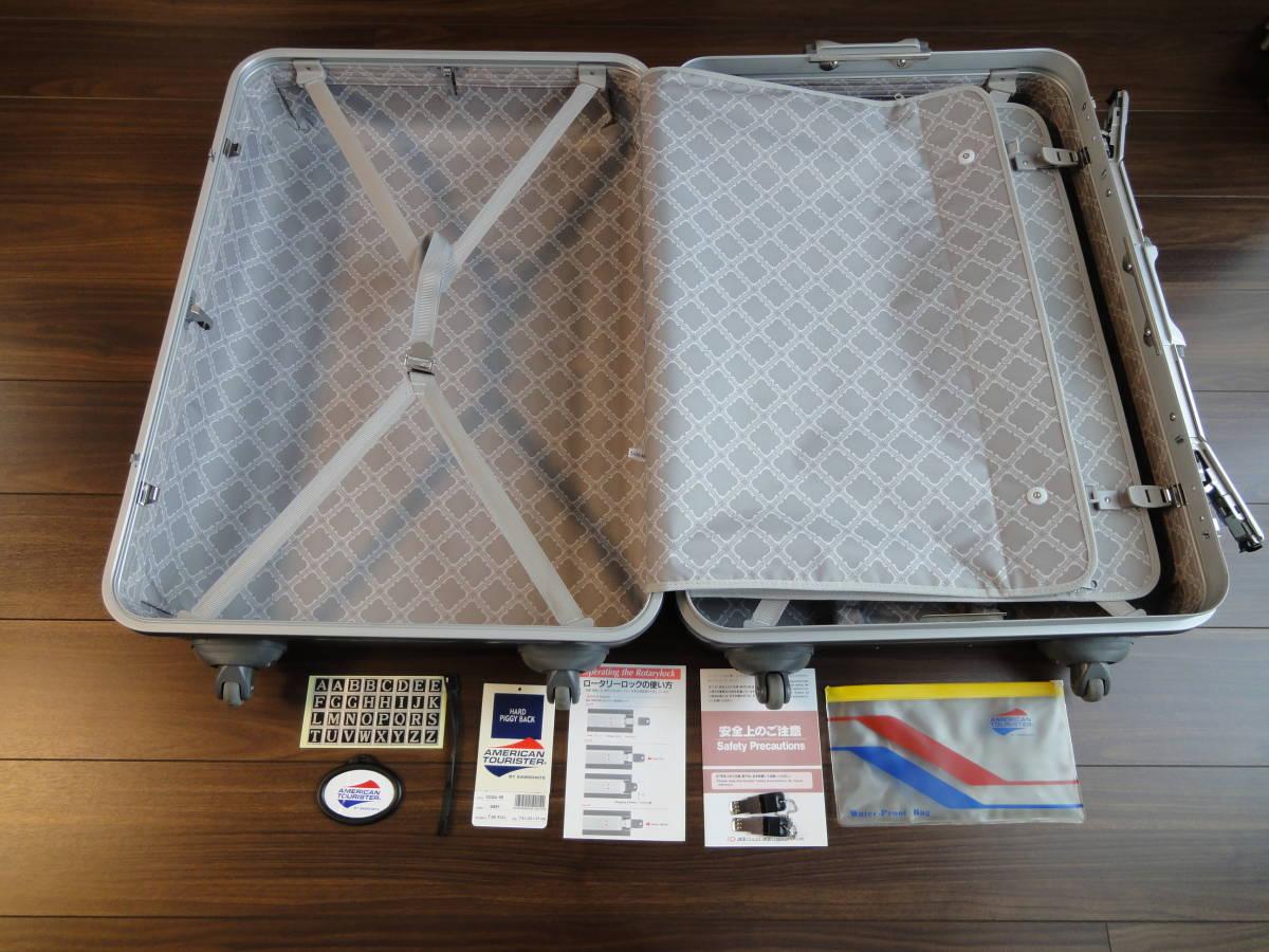1円出品! AMERICAN TOURISTER by SAMSONITE PIGGY BACK 鍵付き 4輪 大型スーツケース アメリカンツーリスター ピギーケース サムソナイトG_画像5