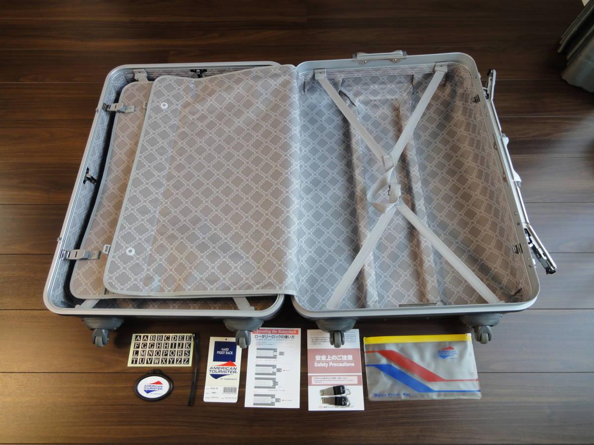 1円出品! AMERICAN TOURISTER by SAMSONITE PIGGY BACK 鍵付き 4輪 大型スーツケース アメリカンツーリスター ピギーケース サムソナイトG_画像6