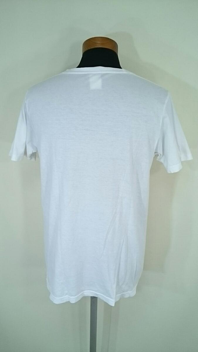 S【BEAMS/ビームス】MENS/メンズ 男性用 トップス 半袖 Tシャツ アース ドクロ/スカル デザイン Tシャツ ホワイト 夏物 夏用 夏服 サマー_画像2