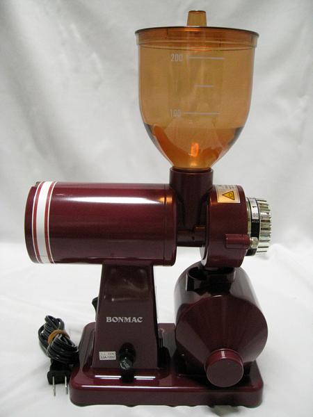 ■ BONMAC コーヒーミル BM-250N レッド 赤 家庭 珈琲 挽く 動作確認済み■_画像2