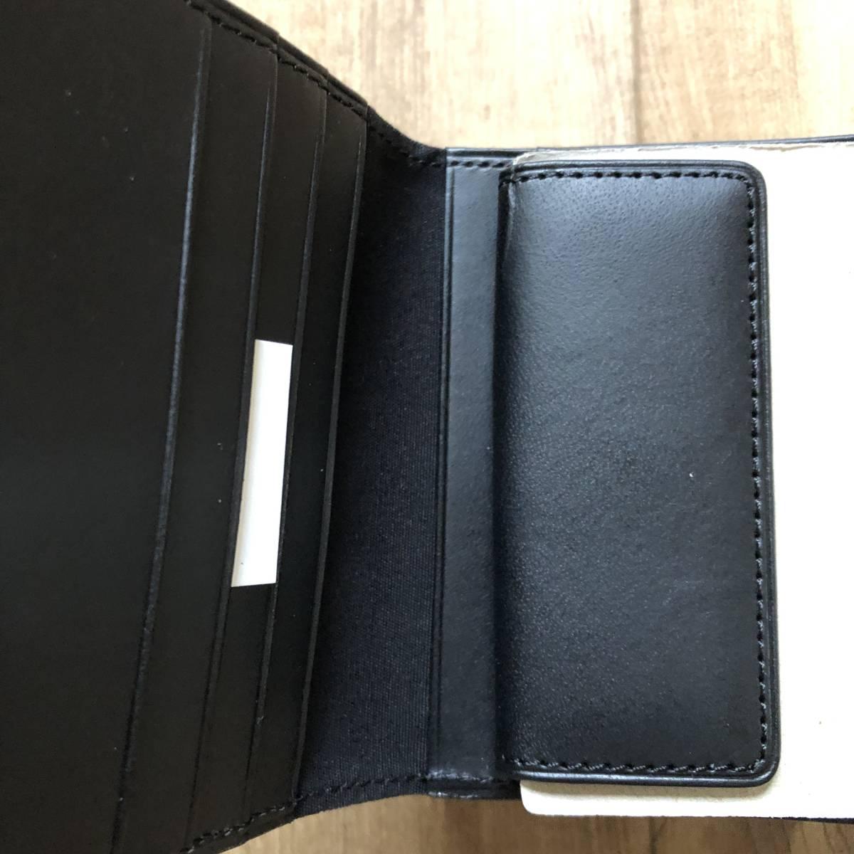 父の日のプレゼントに 無印良品 二つ折り財布 イタリア産ヌメ革 コインポケット付 黒 新品未使用_画像4