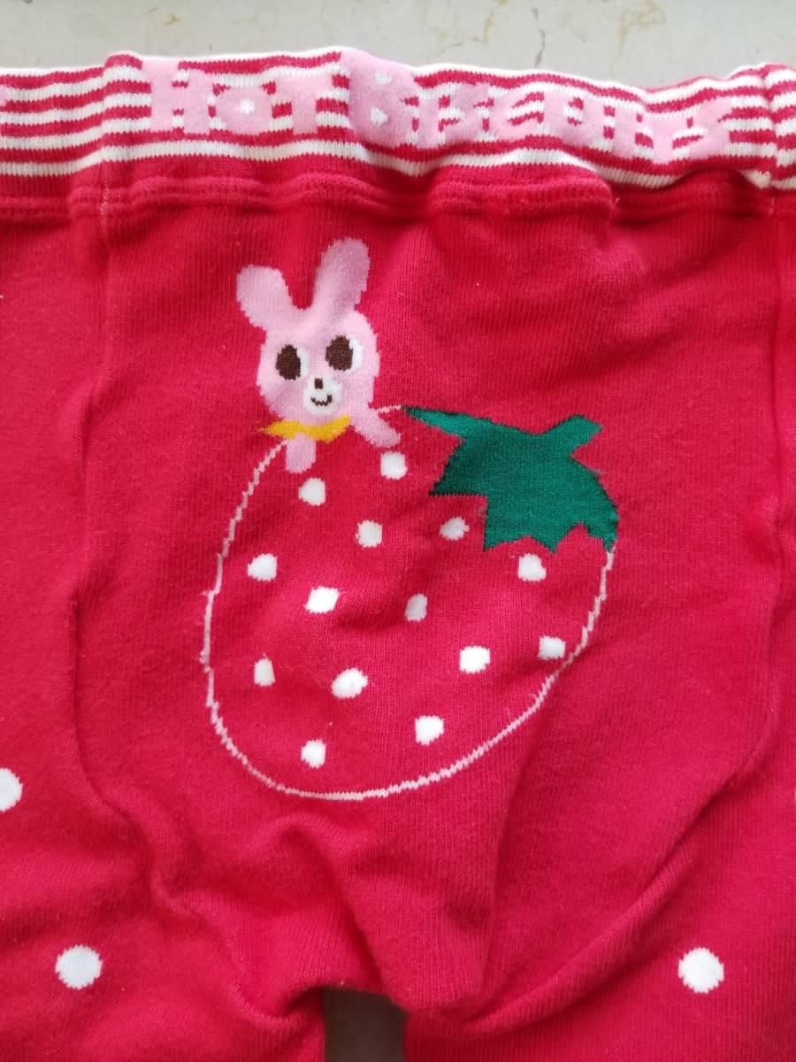 ミキハウス ホットビスケット 女の子 レギンス パンツ 100 日本製  _画像3