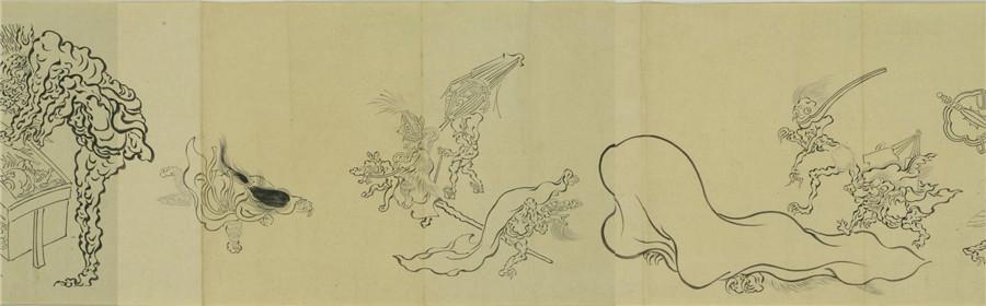 古本『百鬼夜行図』巻物 珍藏_画像4