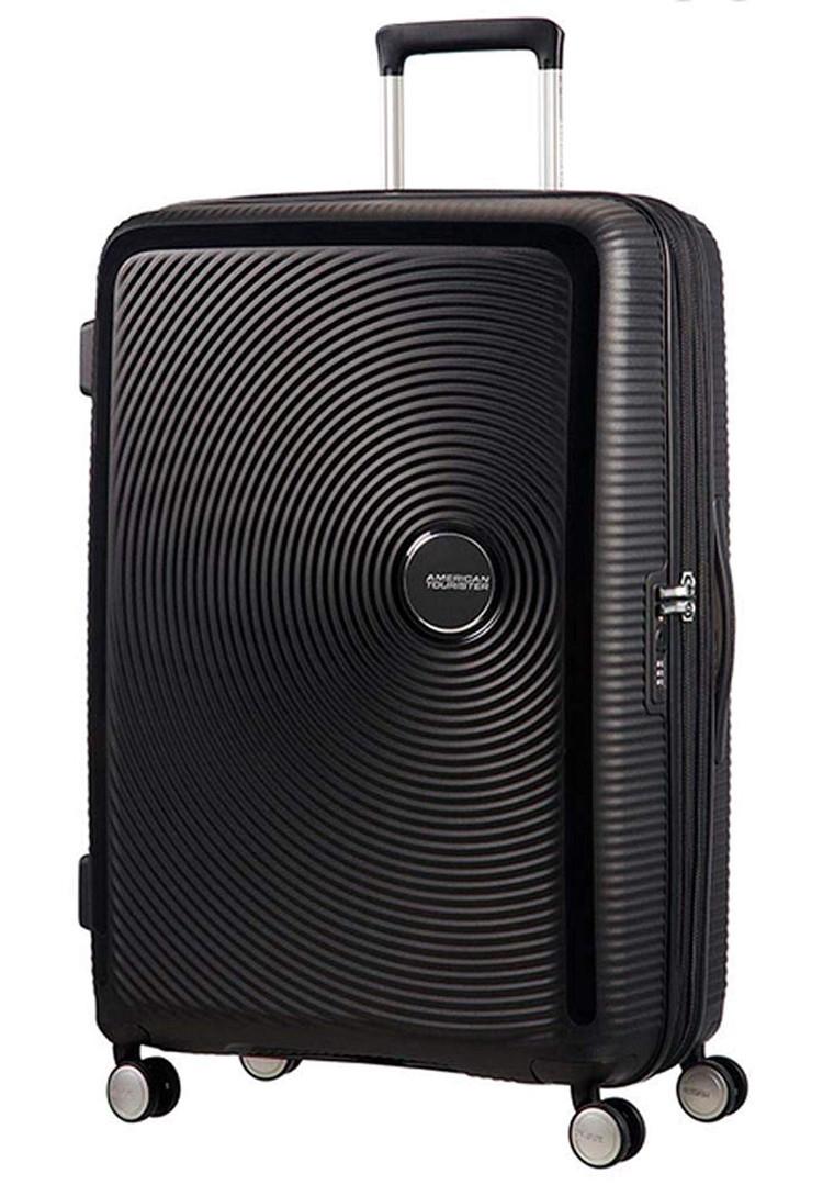 【定価59610円】新品・TSAロック搭載 [アメリカンツーリスター] スーツケース サウンドボックス スピナー ブラック 20インチ 機内持ち込可