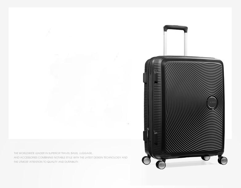 【定価59610円】新品・TSAロック搭載 [アメリカンツーリスター] スーツケース サウンドボックス スピナー ブラック 20インチ 機内持ち込可_画像4