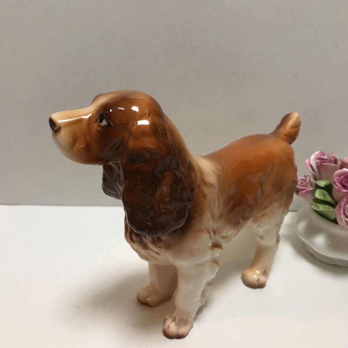 陶器の犬の置物 ビスクドールのお供に 美品コッカスパニエル_画像3