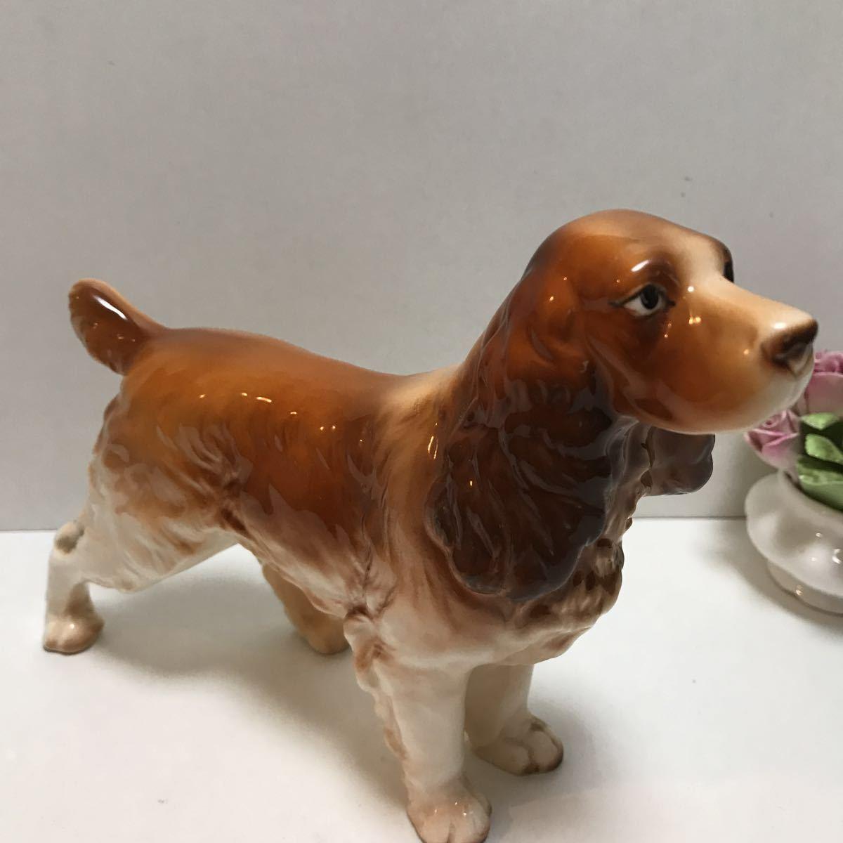 陶器の犬の置物 ビスクドールのお供に 美品コッカスパニエル_画像6