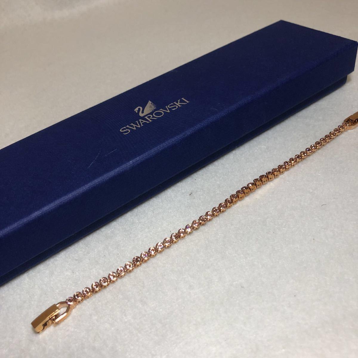 美品 スワロフスキー SWAROVSKI ブレスレット ピンク ゴールド ピンク石 未使用 大人気