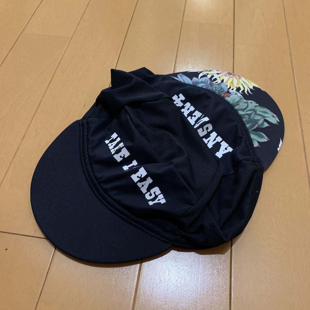★送料無料★ 美品 ANSWER4 シャーロックキャップ シェルパ アンサー4 ブラック 花柄_画像5