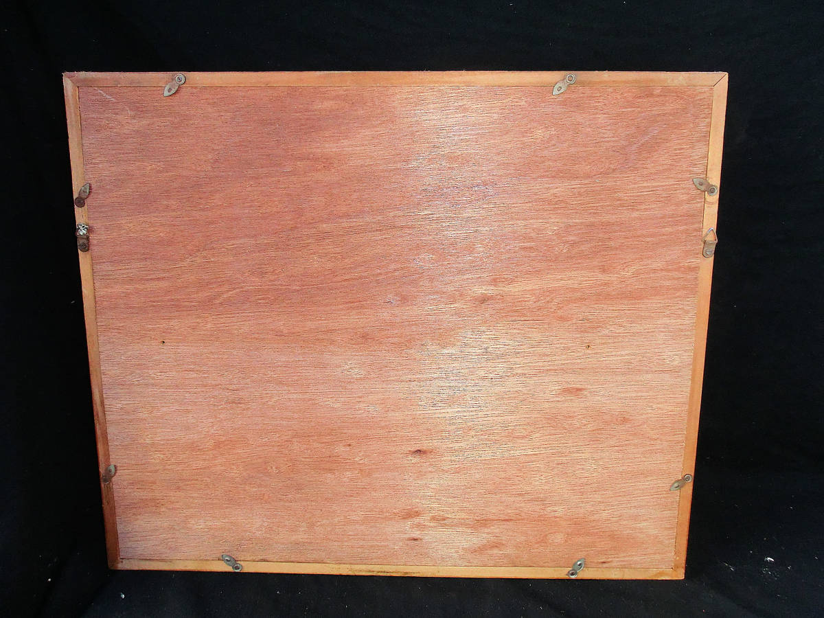 油彩額 油絵用額縁 油絵 油彩画 油彩 額縁 額 木製額 肉筆画 真筆保証 風景画 抽象的な風景画 山の中の農家 F4 4号サイズ_画像8
