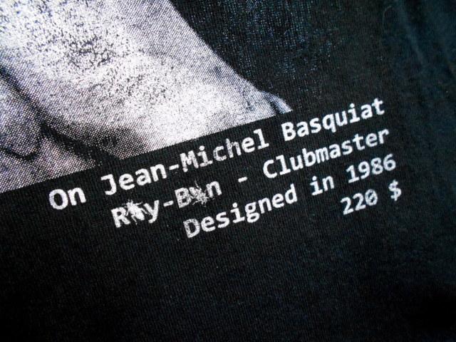 同日2点【送料無料】レア フランス製■バスキア Basquiat HYPE MEANS NOTHING ハイプミーンズナッシング Tシャツ S ブラック _画像5