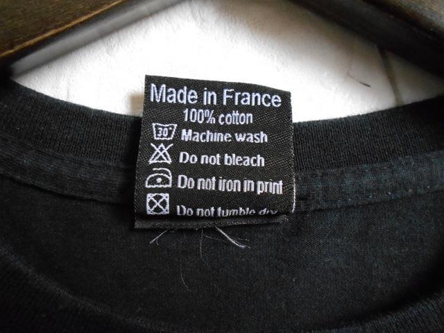 同日2点【送料無料】レア フランス製■バスキア Basquiat HYPE MEANS NOTHING ハイプミーンズナッシング Tシャツ S ブラック _画像6