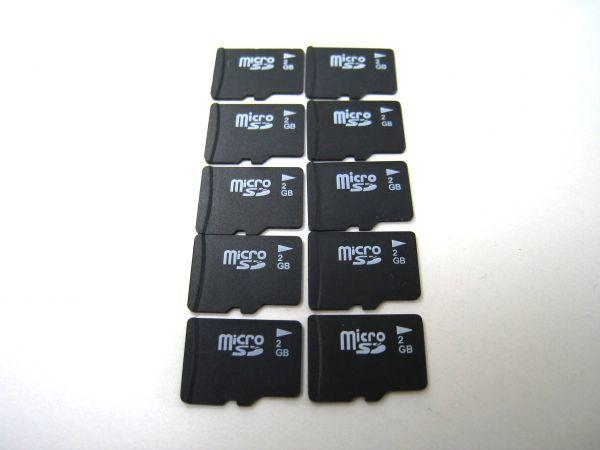 microSD 2GB 10枚セット マイクロSDカード まとめてどうぞ 中古品