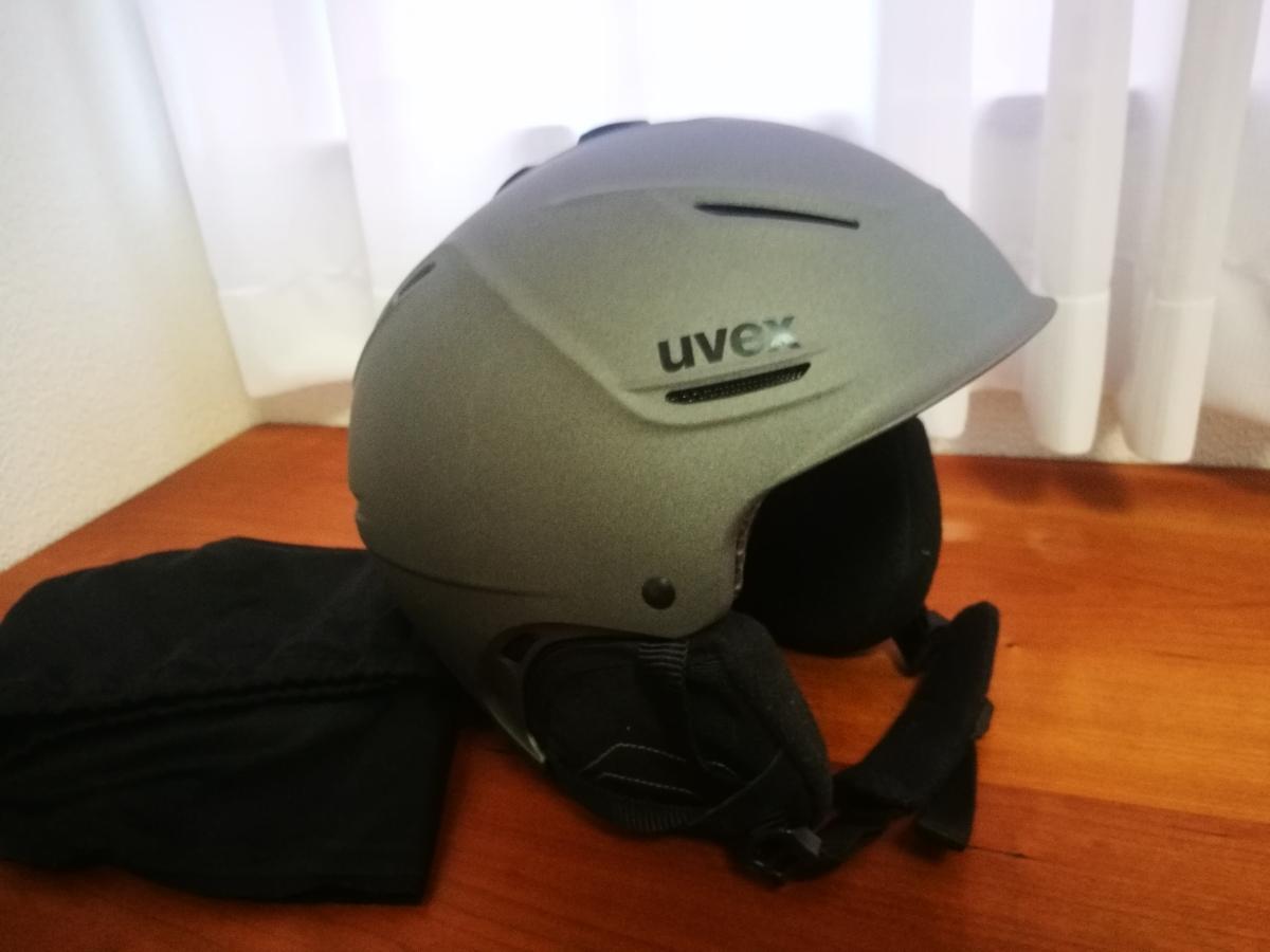 送料無料 ウベックス uvex p1us gun met mat 55-58cm スキー スノボ ヘルメット_画像2
