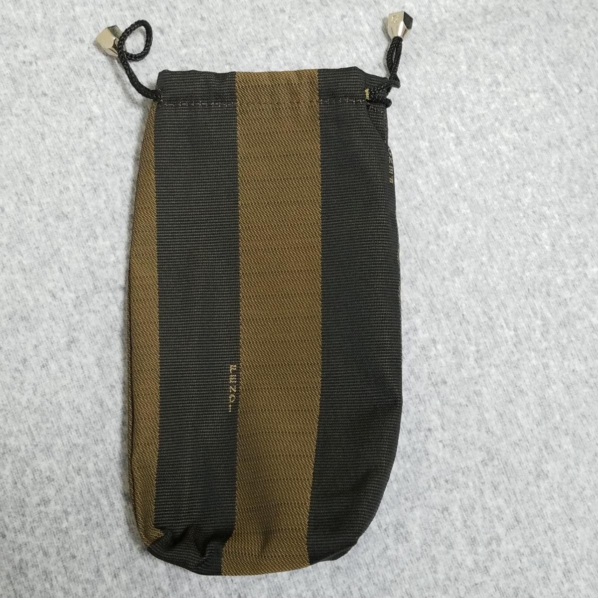 フェンディ(FENDI)巾着ケース♪ ブラウン 茶色 ロゴ付 非売品 レア ラスト_画像1