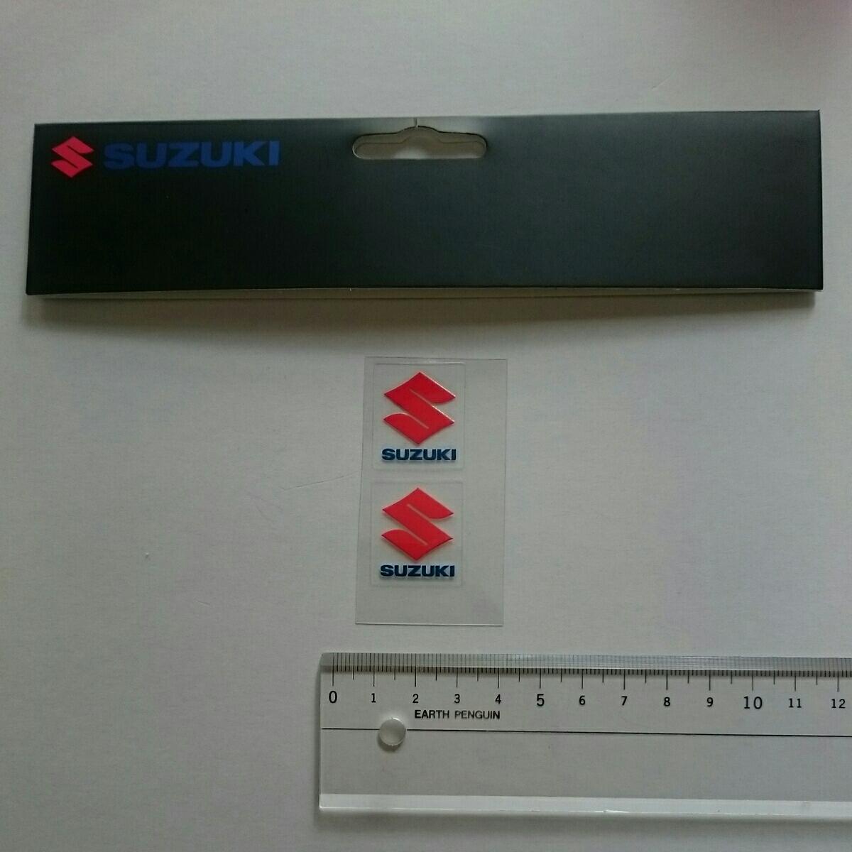 ばら売り・スズキ・純正・ヨーロッパ向け・SUZUKI・CIマーク大の小サイズ・ステッカー・2枚  _画像1