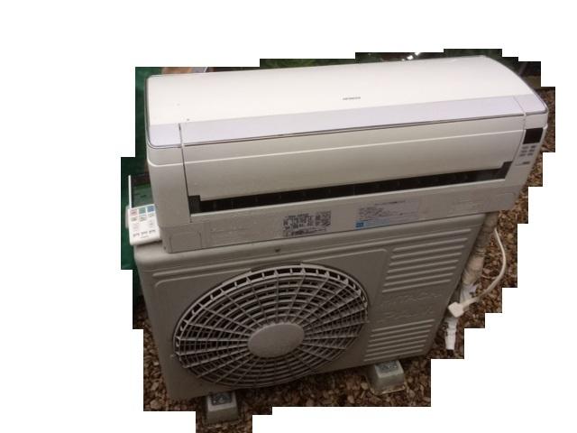 中古動作品★日立 20畳 お掃除エアコン RAS-S63Z2 イオンミスト ステンレスクリーン 白くまくん 200V