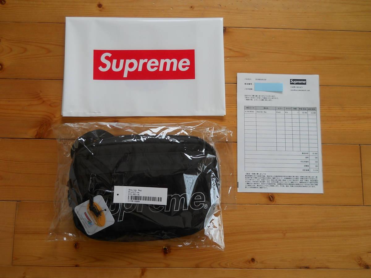 ☆Supreme  18AW Shoulder Bag シュプリーム ショルダーバッグ BLACK ブラック バック Supreme Online ルイヴィトン 新品☆