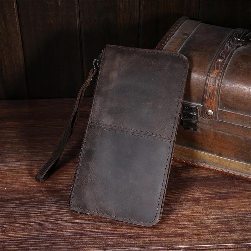 高級 メンズ 長財布 財布 ウォレット レザーウォレット 牛革 高級_画像3