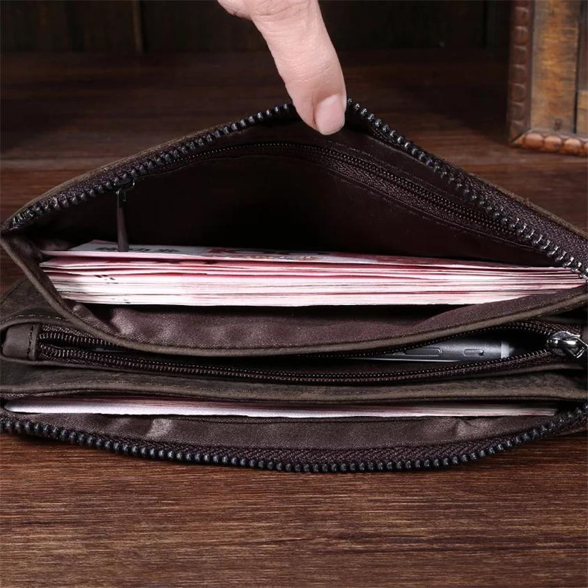高級 メンズ 長財布 財布 ウォレット レザーウォレット 牛革 高級_画像4