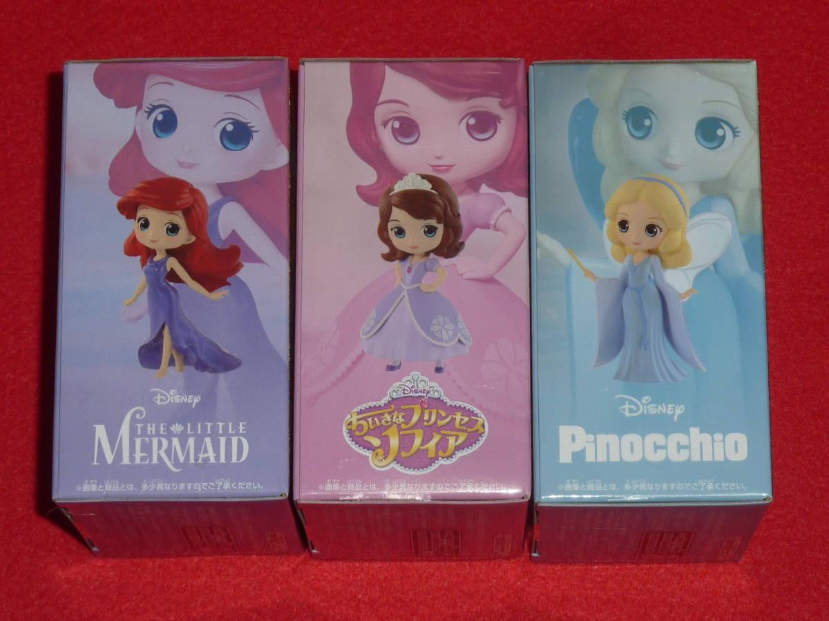 アリエル ソフィア ブルー・フェアリー Qposket petit 3種セット Disney Characters Ariel Sofia Blue Fairy Q posket 送料340円~ last_画像4