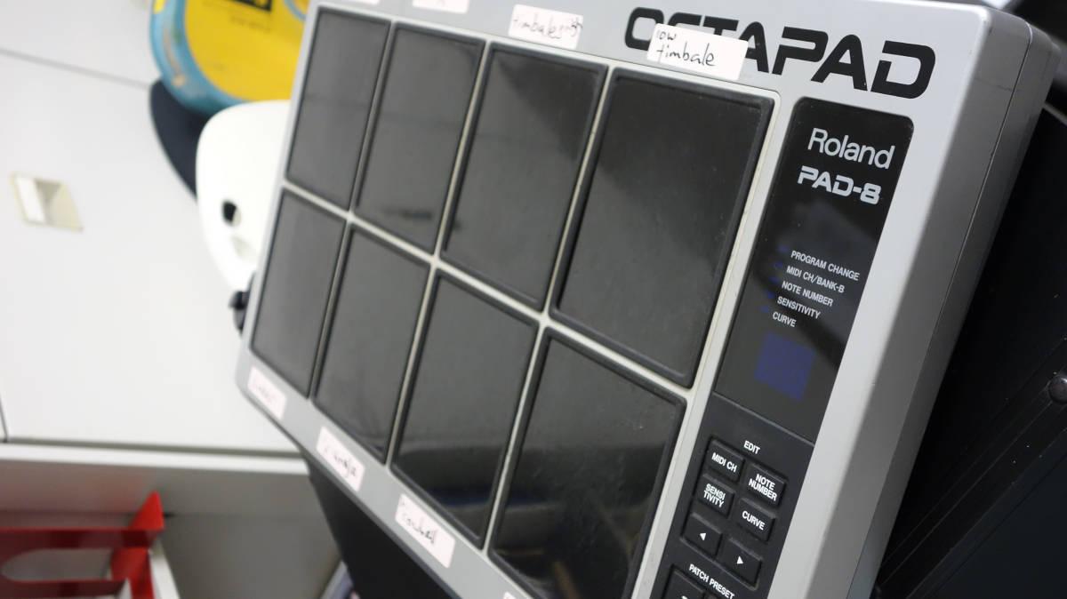 Roland/ローランド OCTAPAD PAD-8 MIDI パーカッションパッド アダプタ付属 動作品 中古