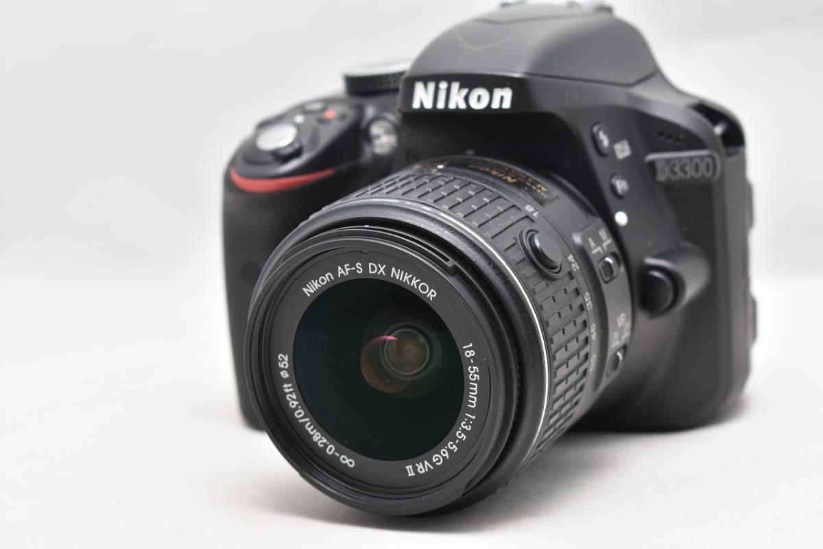 美品★Nikon ニコン D3300 ブラック レンズキット(AF-S DX 18-55mm 1:3.5-5.6G Ⅱ VR)★おまけ付・元箱付_画像2