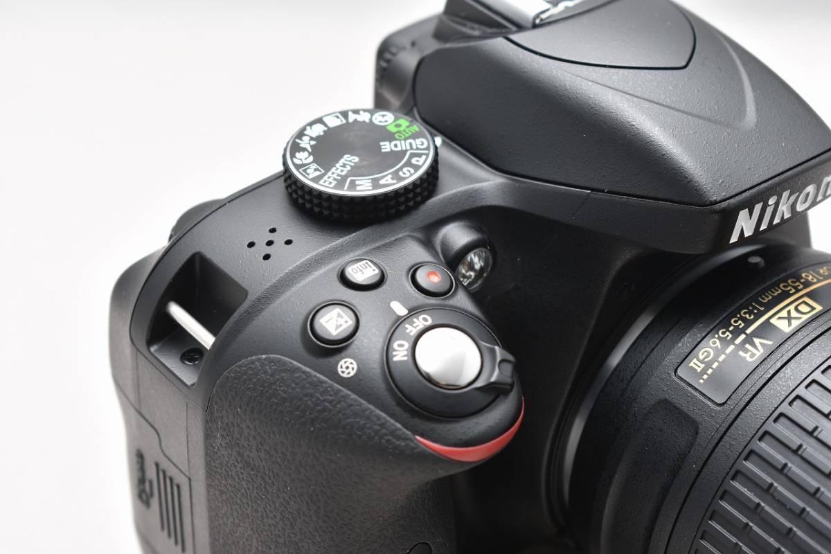 美品★Nikon ニコン D3300 ブラック レンズキット(AF-S DX 18-55mm 1:3.5-5.6G Ⅱ VR)★おまけ付・元箱付_画像4