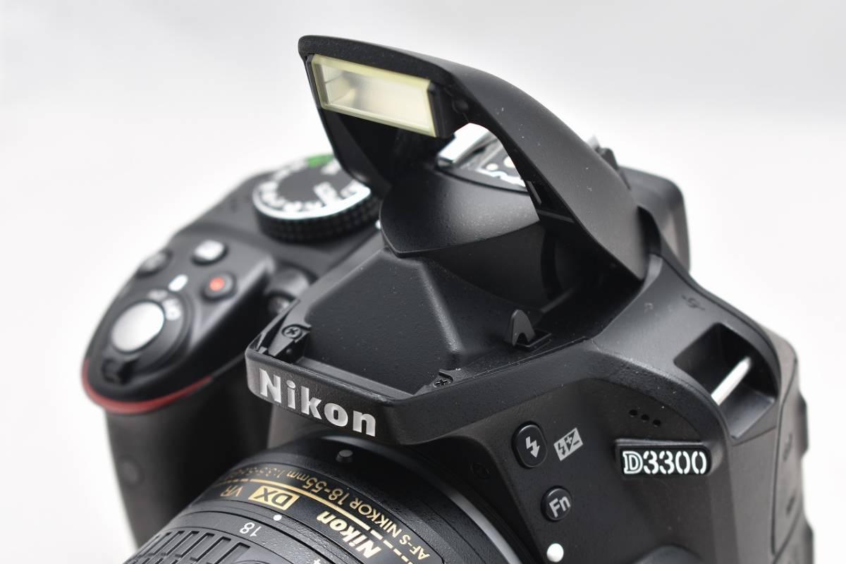 美品★Nikon ニコン D3300 ブラック レンズキット(AF-S DX 18-55mm 1:3.5-5.6G Ⅱ VR)★おまけ付・元箱付_画像5