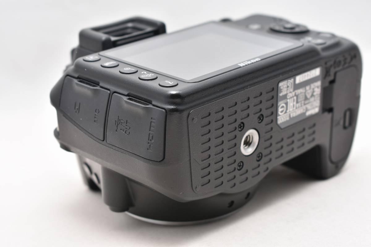 美品★Nikon ニコン D3300 ブラック レンズキット(AF-S DX 18-55mm 1:3.5-5.6G Ⅱ VR)★おまけ付・元箱付_画像8
