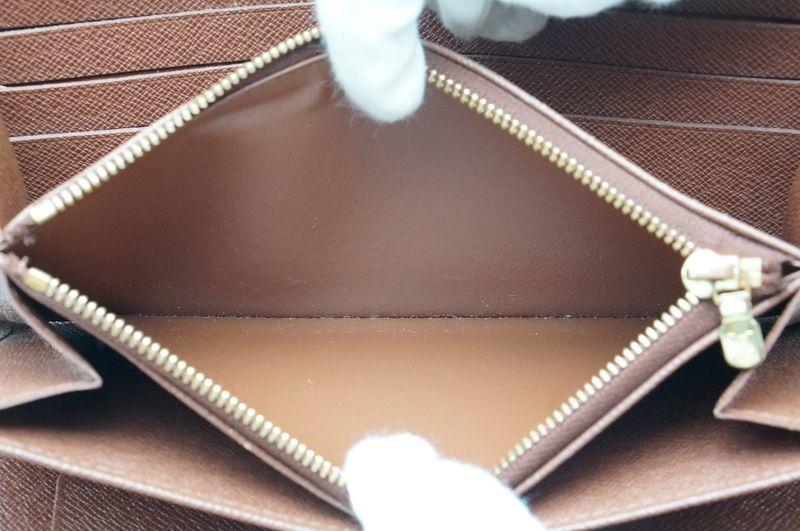 ルイヴィトン Louis Vuitton モノグラム ジッピーオーガナイザー ウォレット M60002 長財布 ラウンドファスナー 定価約10万_画像10