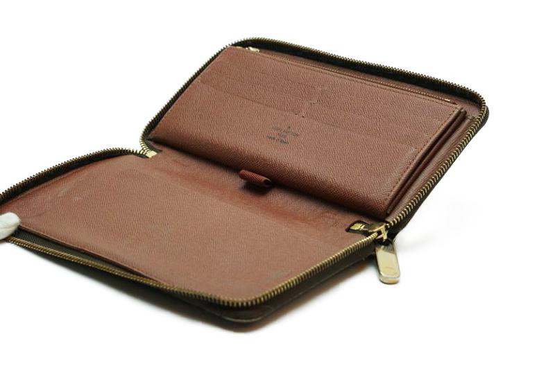 ルイヴィトン Louis Vuitton モノグラム ジッピーオーガナイザー ウォレット M60002 長財布 ラウンドファスナー 定価約10万_画像9