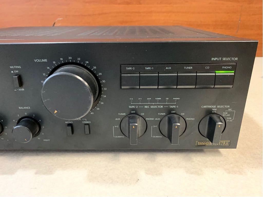 1円 動作品 ONKYO プリメインアンプ Integra インテグラ A-817RX 音出し動作確認済み 売り切り_画像3