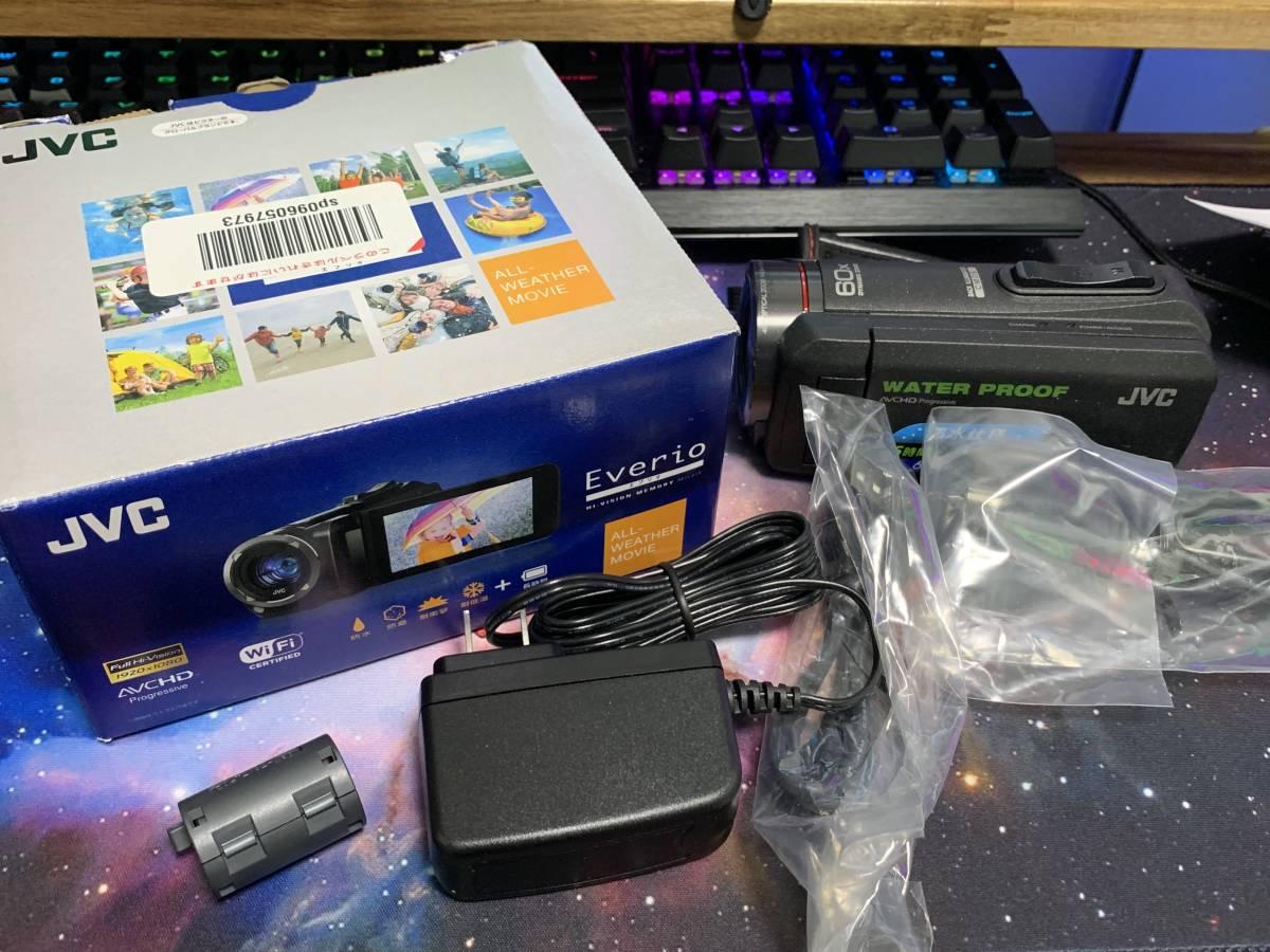 JVC KENWOOD JVC ビデオカメラ EVERIO 防水 防塵 内蔵メモリー64GB ブラック GZ-RX500-B_画像2