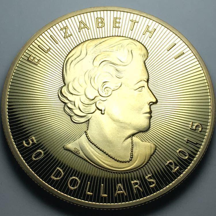 カナダ メイプルリーフ 記念金貨 1oz 1オンス 2コイン 2015年 コレクション メダル 約29グラム_画像2